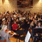 Proba zborova s Dubrovačkim simfonijskim orkestrom u Dubrovniku