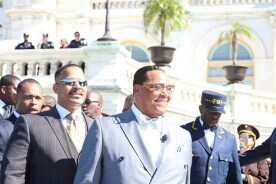 Minister Farrakhan at 20th Anniversery of MMM - Justice or Else rally.