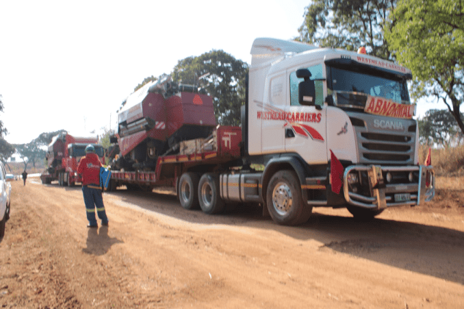 Equipment arrives from Belarus as part of training for the farmers of ZImbabwe.