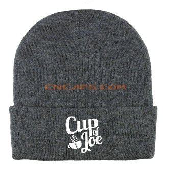 Embroidery on knit hat no-lazy