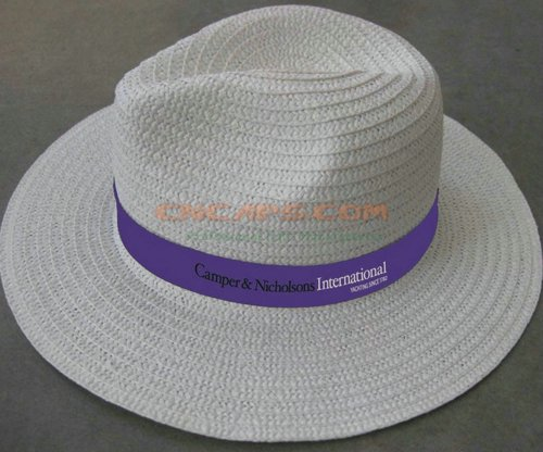 straw hat with logo