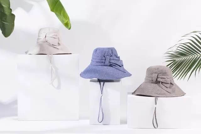 cotton-hat-with-bow-knot