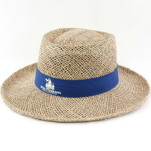 Custom made men's straw golf gambler hat china manufacturer