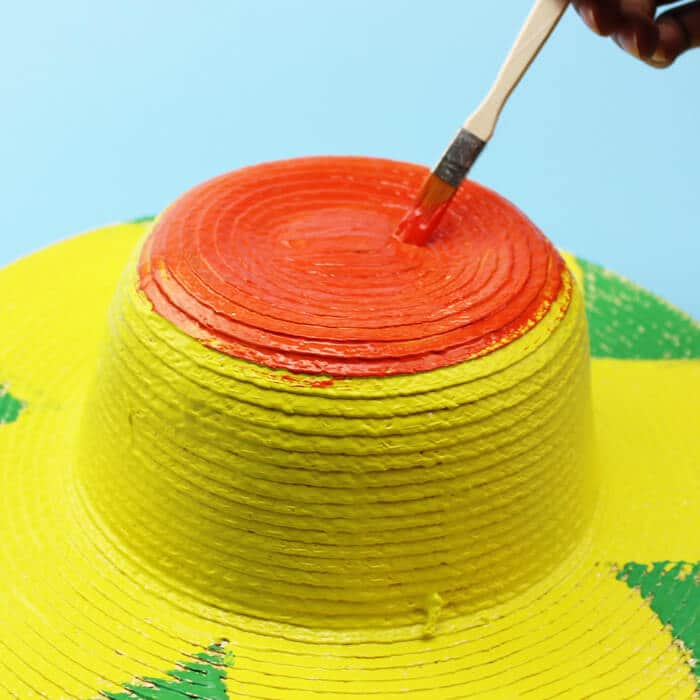 hand painting hat