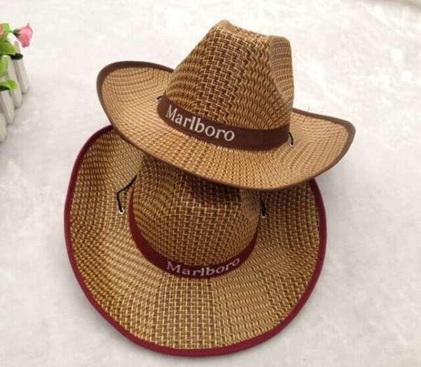 logo cowboy straw hat