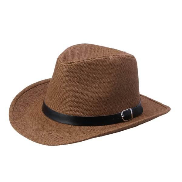 cowboy straw hat brown