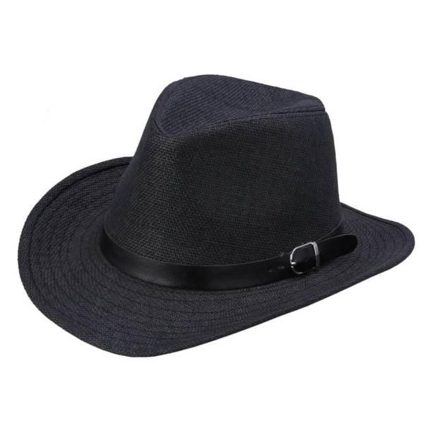 cowboy straw hat black