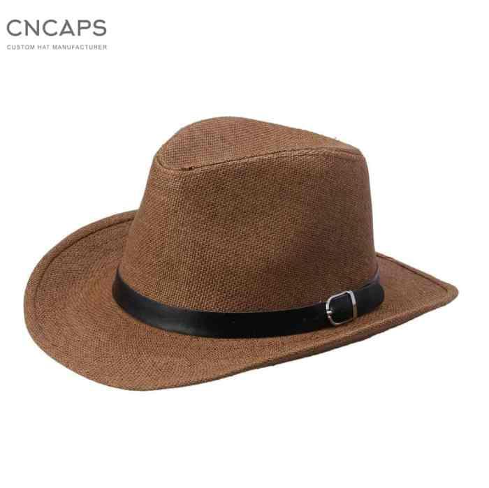 men cowboy hat straw hat
