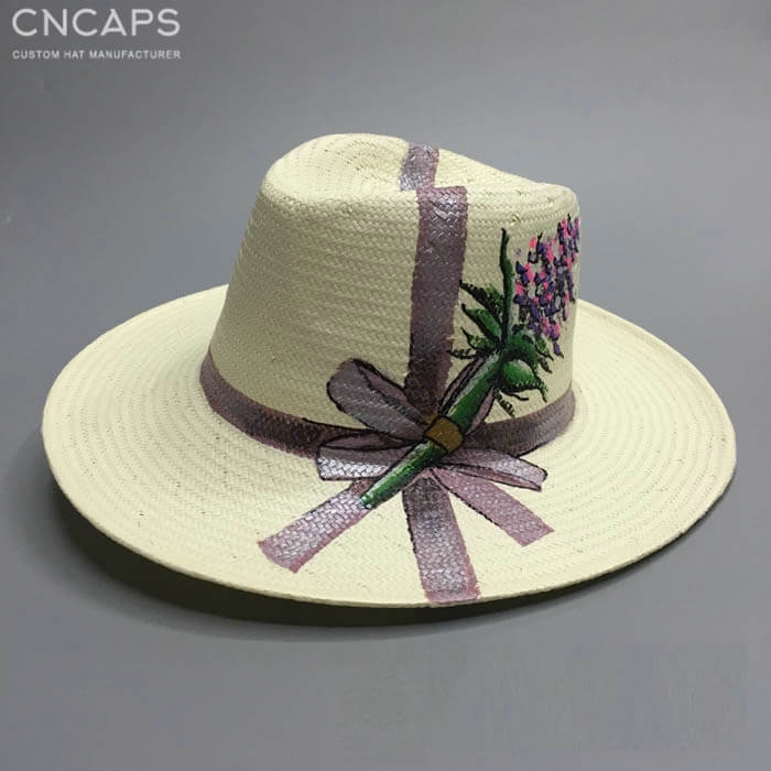 hand drawing panama hat classic