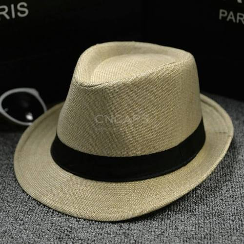 cotton linen fedora