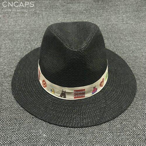 custom panama hat logo