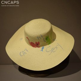 lady beach hat
