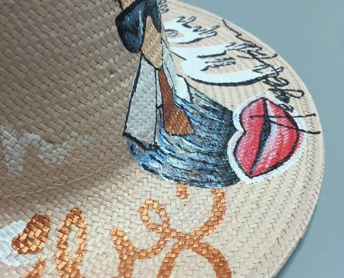 straw hat hand drawing