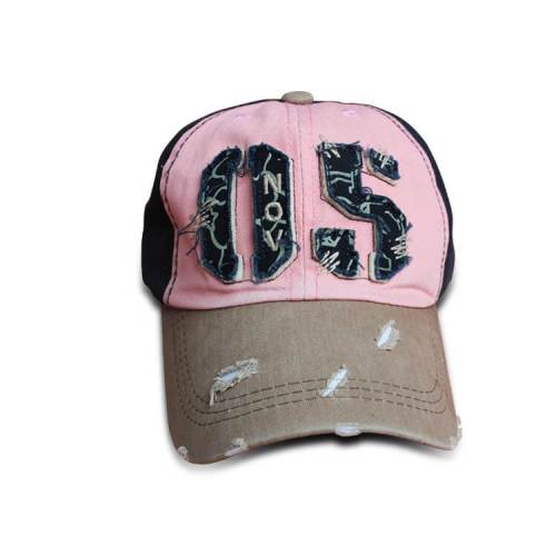 ac63c46a92556 Retro distressed baseball cap cotton twill vintage style
