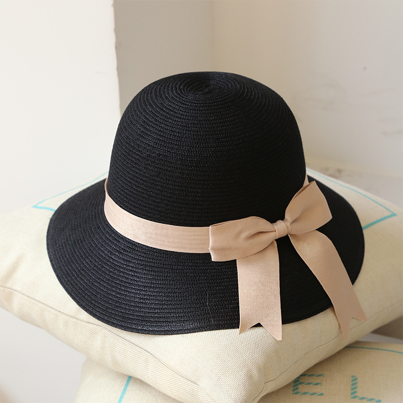 Product pictures of the wholesale summer hat straw material (assorted  colors) 59c203f0f638