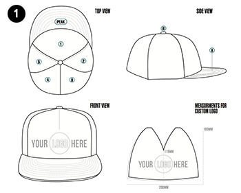 custom snapback hat free design