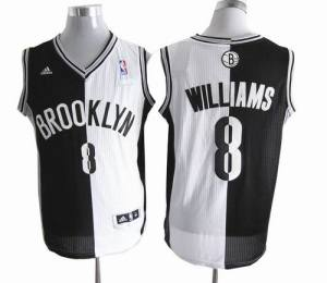 Brooklyn Nets 8 Deron Williams Swingman Split Black White NBA Jerseys