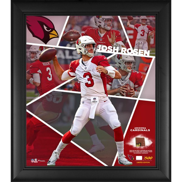 4e15ed0d1222 Arizona Cardinals Josh Rosen Fanatics Authentic Framed 15″ x 17″ Impact  Player Collage with a Piece of Game-Used Football – Limited Edition of 500