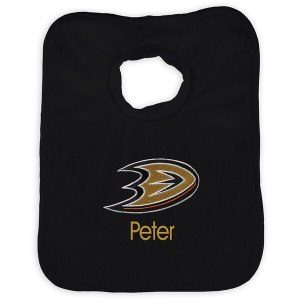 Infant Anaheim Ducks Black Personalized Bib
