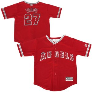 Toddler Los Angeles Angels Mike Trout Majestic Red Alternate Cool Base Player Jersey