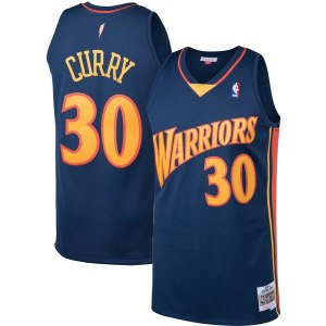 Men's Golden State Warriors Stephen Curry Mitchell & Ness Navy Big & Tall Hardwood Classics Jersey