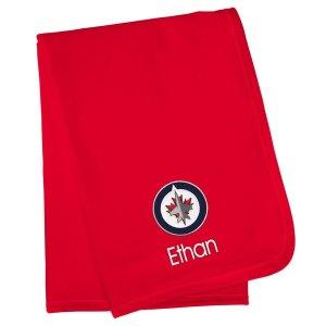 Infant Winnipeg Jets Red Personalized Blanket 1998 usa soccer jersey