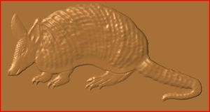 this is an image of a free cnc model of an armadillo.