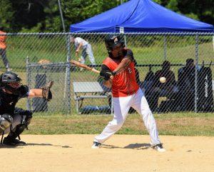 Derek Tyler hitting against the Rebels 7/26/2020