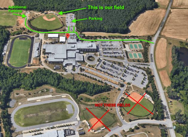 Holly Springs High School baseball field