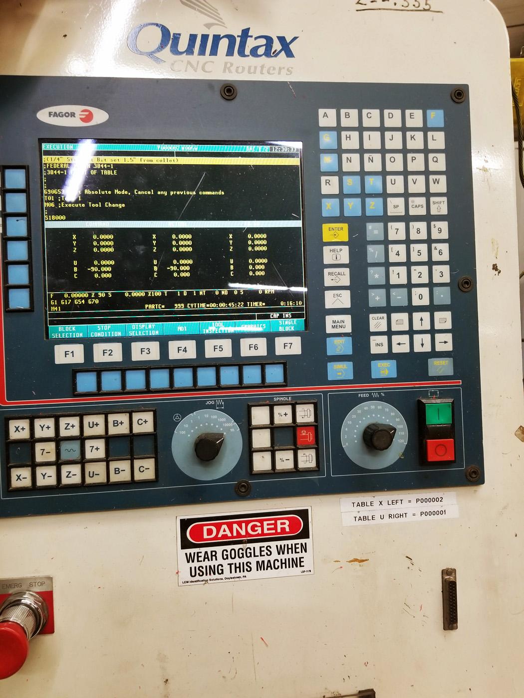 Quintax 5 Axis CNC Router E568 008