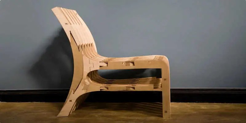 CNC router project wooden chair