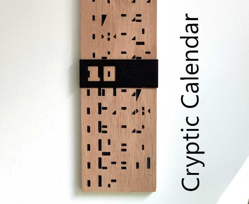 CNC Cryptic calendar