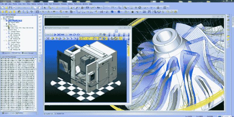 CAD and CAM software program