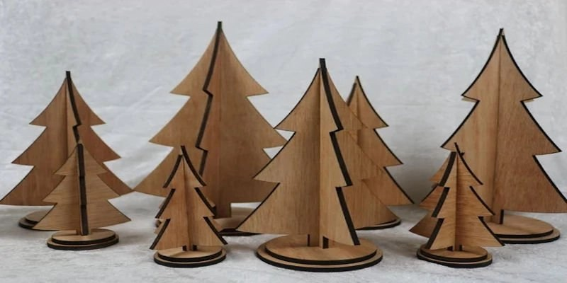 Laser cut Christmas tree project sizes