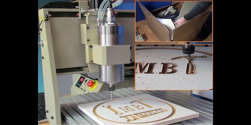 Carving a sign using a 6040 CNC router
