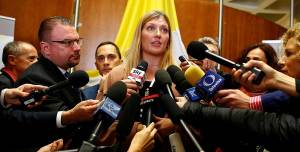 Beatrice Fihn, executive director of the International Campaign to Abolish Nuclear Weapons (ICAN), who was awarded the 2017 Nobel Peace Prize. (Reuters / Tony Gentile)