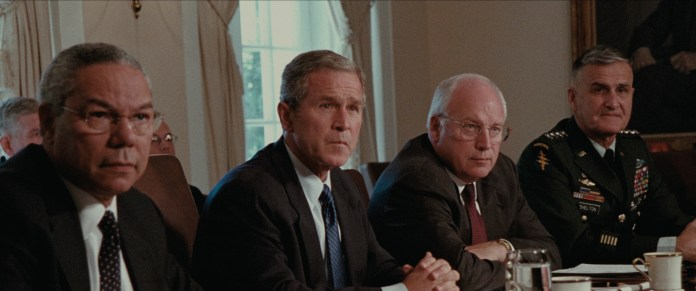 US Secretary of State Colin Powell, President George W. Bush, Vice President Dick Cheney and Lt. Gen. Douglas Lute