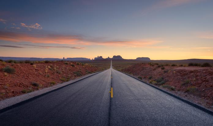 Road and sky