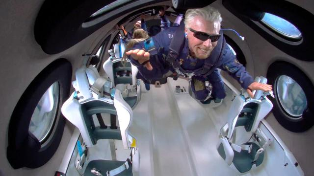 Richard Branson goes to space