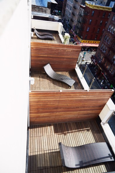 Brid Eye View of Our Penthouse Patio