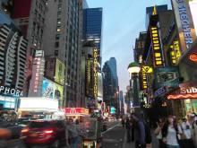 Coucher de soleil sur Times Square