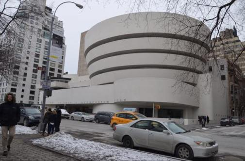 Vue hivernale du Guggenheim Museum
