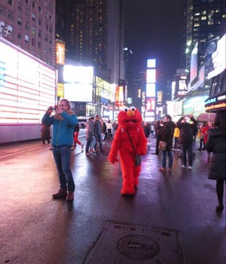 Sur Times Square, vous croiserez peut-être Elmo