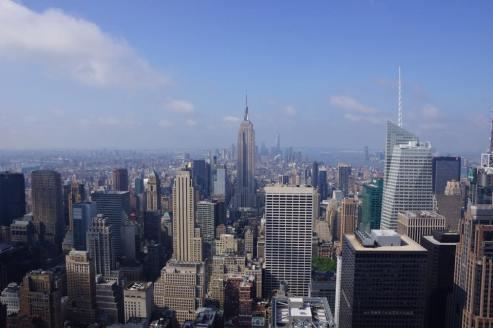 L'Empire State buiding vu depuis le Top of the Rock. (Photo Géraldine Parrinello)