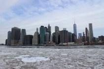 Le Financial District et l'East River gelée
