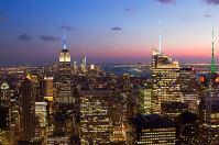 Vue nocturne de Manhattan depuis le Top of the Rock