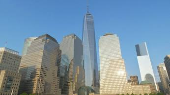 Le World Trade Center depuis la marina. (Photo Smain Stanley)