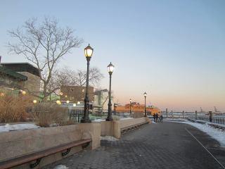 Le Terminal des ferries depuis Battery Park. (Photo Chantal Renard)