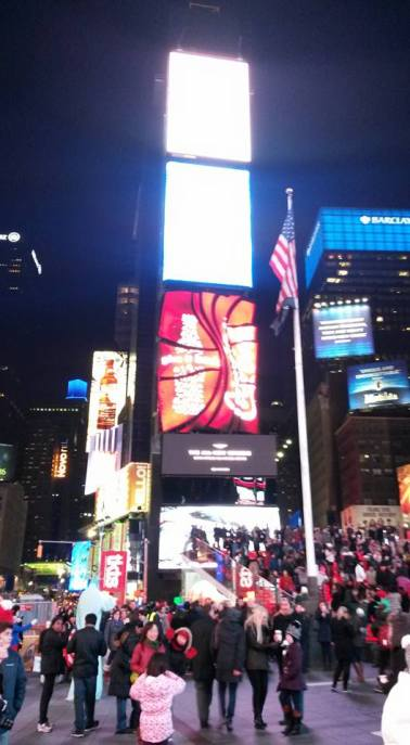 Au coeur de Times Square. (Photo Eric Coca)