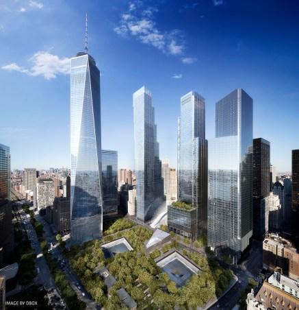 Vue générale sur le World Trade Center. (Photo BIG)